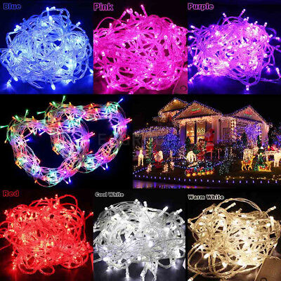 LED Christmas Fairy String Lights Lamp Wedding Party Indoor Outdoor Decorations • 8.54$