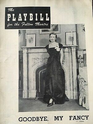 "$ CDN5.65 • Buy ""Goodbye, My Fancy"" Playbill 1949 Madeline Carrol Shirley Booth Sam Wanamaker"