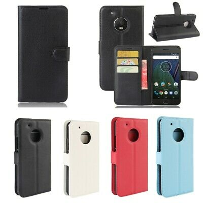 AU6.54 • Buy New Motorola Moto C/E4 Plus/G5/G5+ Mobile Phone Wallet Flip Leather Case Cover
