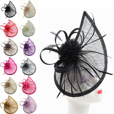 AU32.02 • Buy Teardrop Curves Fascinator Hat Headband Clip For Weddings Party Races Occasions