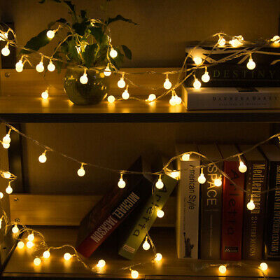 Connectable Plug In LED Ball Garden Party Fairy String Lights Bedroom Globe Lamp • 17.94£