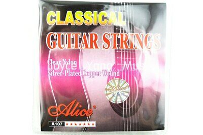 $ CDN5.23 • Buy Alice A107-N Classical Guitar Strings Clear Nylon Silver-Plated Copper Wound