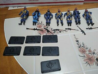 $ CDN118.64 • Buy Gi Joe 25th Anniversary Figure Army Builder Lot X 7 Bazooka Air Cobra Troopers