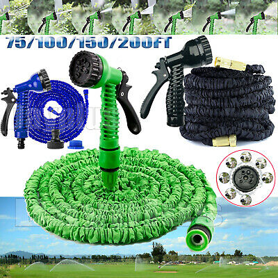 No-Leaking Strength Fabric Flexible Hose Pipes For Garden Watering Cars Washing • 9.91£