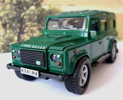 Personalised Plates GREEN LAND ROVER DEFENDER Model Toy Boy Dad Birthday Present • 10.95£