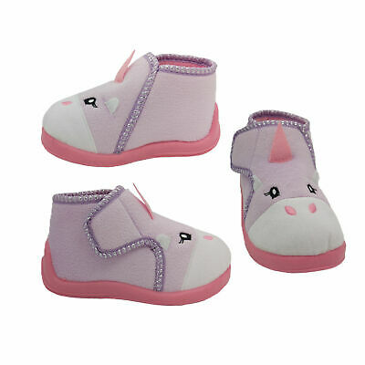 AU24.95 • Buy Girls Slippers Grosby Unicorn Little Girls Slipper Lilac Hook And Loop Size 4-12