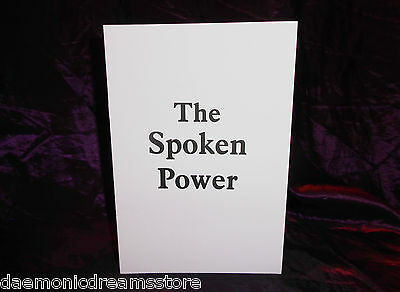 £29.99 • Buy THE SPOKEN POWER Finbarr Occult Grimoire Magic White Magick Witchcraft