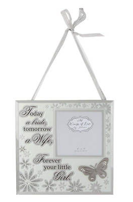 Mother Father Of The Bride Wedding Gift Wall Hanging Picture Photo Plaque Favour • 5£