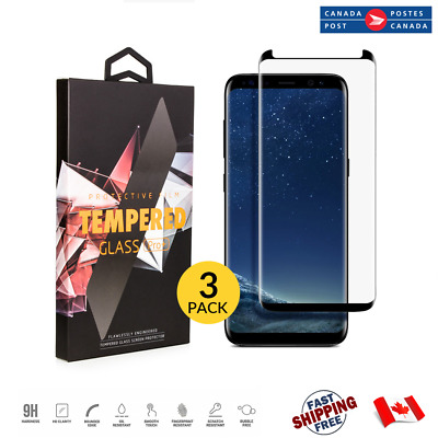 $ CDN6.99 • Buy For Galaxy S8 S8+ 3D 9H Tempered Glass Curved Case Friendly Screen Protector