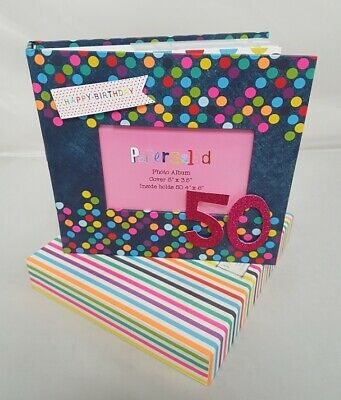 50th Birthday Celebration Photo Album Unisex Picture Book Spotty Gift Present  • 8.50£