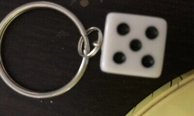 Recycle Dice Keychain White • 1$
