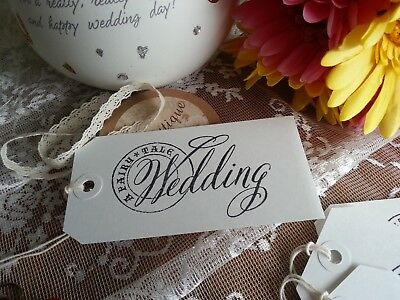 A Fairytale Wedding ~ 10 Lovely Large Wish Tree Favour Wedding White Gift Tags  • 2.90£
