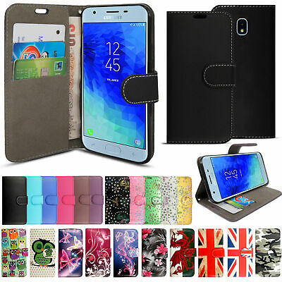 Case Cover For Samsung Galaxy J3 J5 2017 J6 Magnetic Wallet Flip Leather Phone • 2.99£