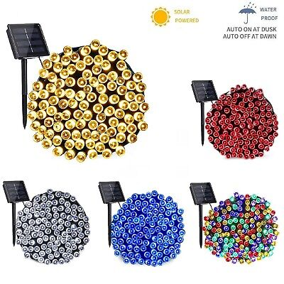 50/100/200/500 LED Solar Power Fairy Garden Lights String Outdoor Party Wedding • 11.89£