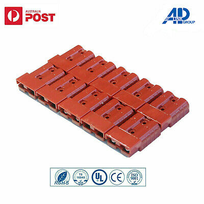 AU22.95 • Buy 10x Connectors Anderson Style Plug DC Power 50AMP Solar Caravan 6AWG RED