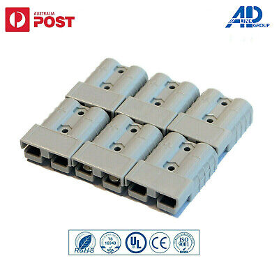 AU11.59 • Buy 6x Connectors Anderson Style Plug DC Power 50AMP Solar Caravan 6AWG GREY