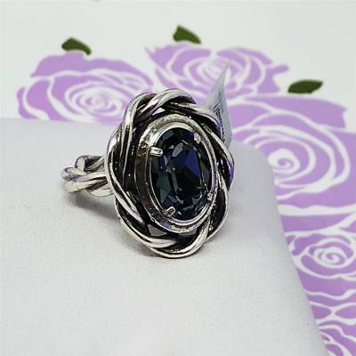 Brighton Radiant Oval Braided Ring  Size 9  New With Tag  $58  Black/gray • 18$