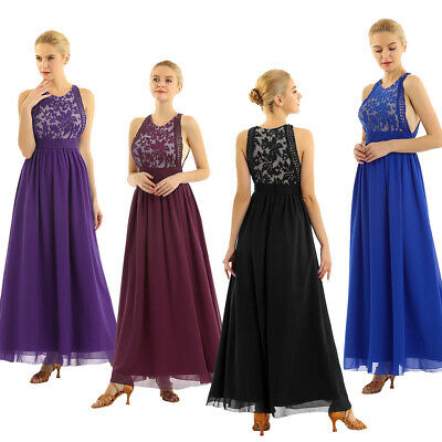 £16.64 • Buy Women's Long Bridesmaid Dress Lace Evening Prom Formal Dresses Homecoming Dress