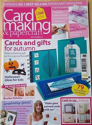 Card Making & Papercraft Magazine Issue #5 Oct 04~Glass Painting~Parchment Art  • 3.25£