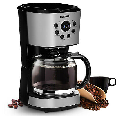 £32.99 • Buy Geepas Filter Coffee Maker 12 Cup Machine Automatic Setting Digital Timer