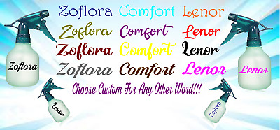 Mrs Hinch Zoflora Lenor Comfort Softener Spray Bottle Tray Vinyl Decal Stickers • 1.79£