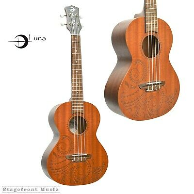 AU255 • Buy LUNA UKULELE LASER ETCHED TATTOO SERIES TENOR W/GIG BAG - TTNMAH