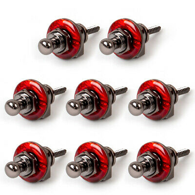 $ CDN39.67 • Buy 8Pcs Guitar Strap Locks Schaller Style Metal Head Button For Electric Bass Parts