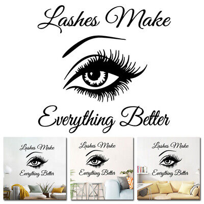 £7.30 • Buy Wall Art Sticker Eyelashes Lashes Extension Decal Beauty Salon Mural Decoration