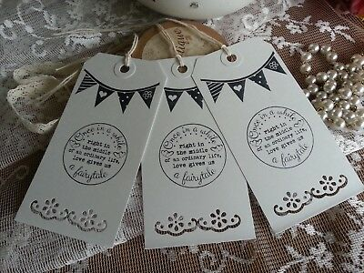 10 Once In A While Ordinary Life Love Gives Us A Fairytale Bunting Wedding Tags • 2.80£