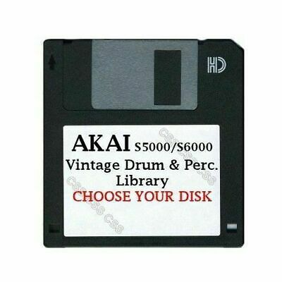 $14.99 • Buy Akai S5000 / S6000 Floppy Disk Vintage Drums & Perc. Library Choose Your Disk
