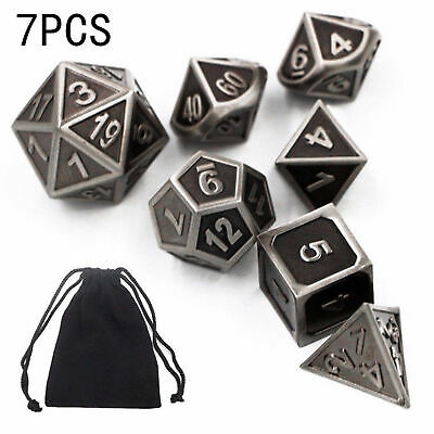 AU19.60 • Buy 7Pcs Set Resin Rainbow Polyhedral Dice DND RPG MTG Role Playing Game