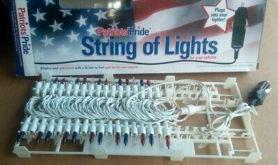 NEW Patriotic Car Lights Red White Blue String Memorial Flag Day Fourth 4th July • 9.92£