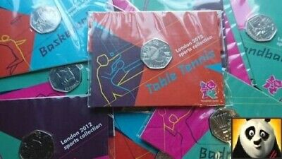 Selection Of Commemoraive 50p Fifty Pence Olympic Coins Original Pack Unc Coin • 29.95£