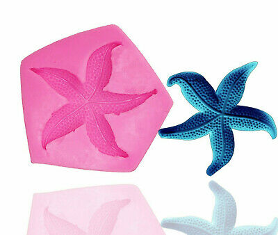£4.25 • Buy SEA SHELL STARFISH 3D Silicone Fondant Cake Topper Mold Mould Chocolate Clam 2