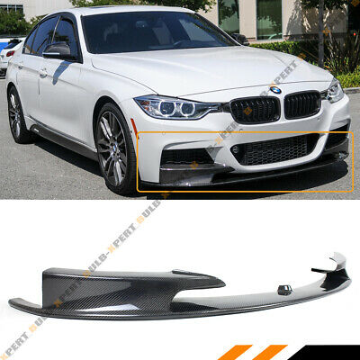 AU419.47 • Buy For 2012-18 BMW F30 F31 M Sport Carbon Fiber MP Style Front Bumper Lip Splitter