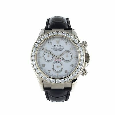 $ CDN35066.07 • Buy Rolex Daytona 116519 18k White Gold & Leather Watch