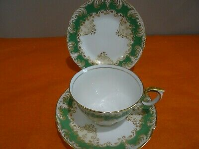Crown Staffordshire Trio  Cup, Saucer & Tea Plate  A15913 • 24.99£