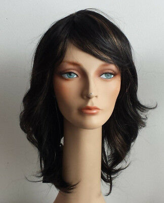 $19.99 • Buy Melody Wig MT-2555 Farrah Feathered Style 70s Color: FS1B/27 Off-black W Auburn