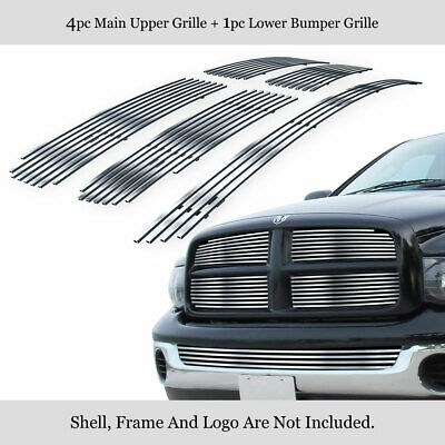 $109.99 • Buy Fits 2002-2005 Dodge Ram Stainless Polished Chrome Billet Grille Insert Combo