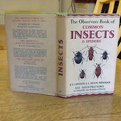 £9.99 • Buy Observers Book Of Common Insects & Spiders 1964: