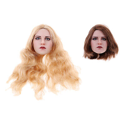 $32.47 • Buy 1:6 Scale Woman Head Model Sculpture W/ Hair For 12'' TTL Enterbay Hot Toys