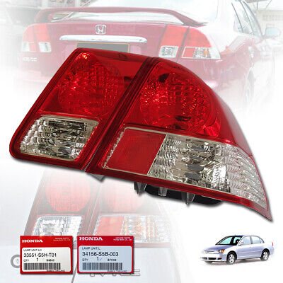 $138.36 • Buy Honda Civic Dimension Es 2001-02-03-05 Right Side Rear Tail Clear Lamp Light Red