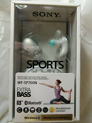 AU113.34 • Buy Sony Wf-sp700n Sports Extra Bass Wireless Noise Canceling White Headphones New