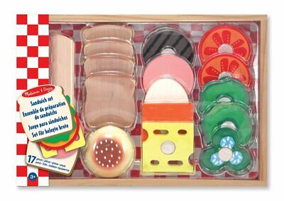 Melissa & Doug Wooden Sandwich-Making Pretend Play Food Set • 16.86£