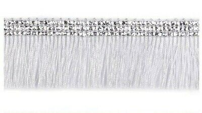 £1.99 • Buy 3cm Silver Metallic Chainette Fringe Trimming Sewing Crafts Edging Curtains