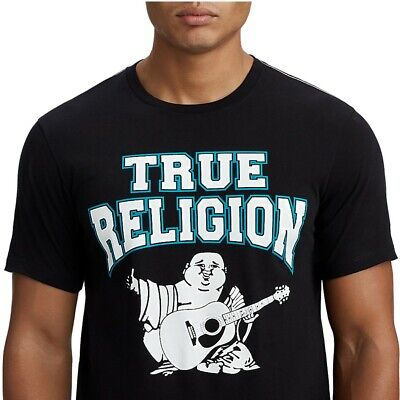 True Religion Men's Two-Tone Buddha Graphic Tee T-Shirt In Black • 21.92£