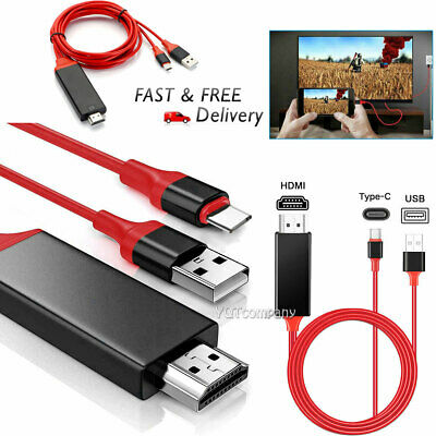 $11.99 • Buy USB Type C To HDMI HDTV TV Cable Adapter For Samsung S8 S9 S10 Note 20 S21+ S10e