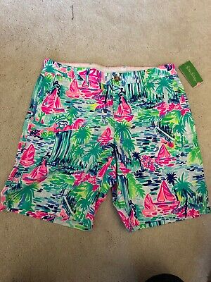 1eae52d94917c Mens Lilly Pulitzer Beaumont Shorts NWT SIZE 36 • 50.00$