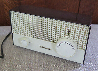 $ CDN38 • Buy Vintage Silvertone AM Table Tube Radio Model 1002 Brown J0915 TESTED WORKS