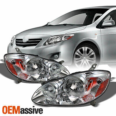 $94.99 • Buy Fits 03-08 Corolla Clear Headlights Lamp Left+Right Replacement Headlamps Light